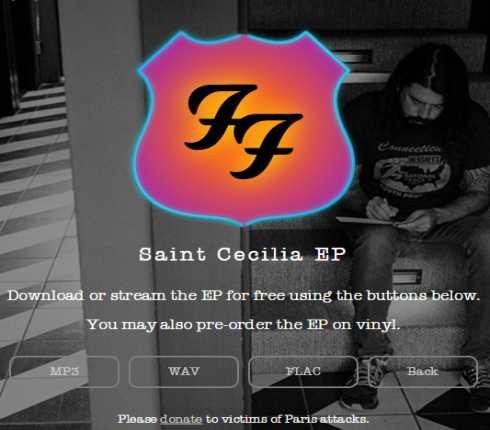 FOO FIGHTERS: scarica l'EP Saint Cecilia